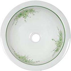 Decorated round sink