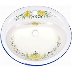 Oval decorated sink